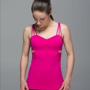 Lululemon Pink Cutout Exquisite II Bra Tank Top
